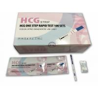 China Early Response HCG Pregnancy Test Kits Strip Format With 2.5mm 3.0mm Width wholesale