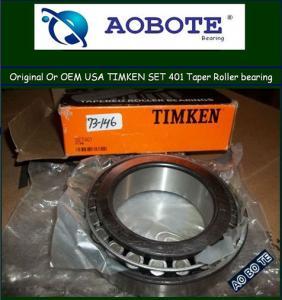 China Heavy Duty  Timken / KOYO Tapered Roller Bearing of Single Row   SET 401 wholesale