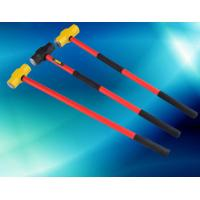 China Carbon Steel Double Face Sledge Hammer With Fiberglass Handle wholesale
