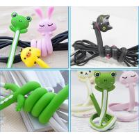 China Customized Silicone Cable Winder Stylish with Silk screen printed on sale