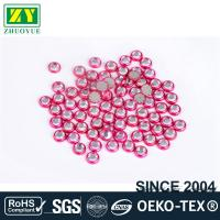 Round Shape Rimmed Rhinestones Glass / Alloy Material 12 - 14 Facets for sale