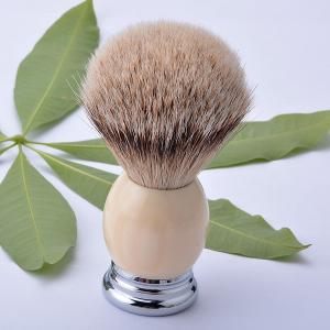 Quality Customed silvertip badger shaving brush metal base , shaving razor brushes for sale