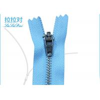 China Normal Type Teeth Jeans Metal Zipper 48 Inch Zinc Yg Slider 4# Blue Polyester Tape wholesale