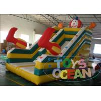 China 0.55mm PVC Inflatable Slides Clown Slide Commercial Inflatable Toys wholesale