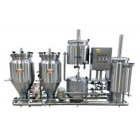 Wholesale 100L Home Microbrewery Equipment , Steam Heated Bar Brewhouse For Wort Processing from china suppliers