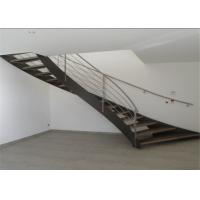 China Residential Stainless Steel Metal Spiral Staircase Indoor Usage Easy Assemblying on sale