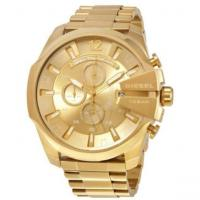 Buy cheap Wholesale New Diesel Mega Chief DZ4360 Chronograph Gold Tone Dial Case Gents Men from wholesalers