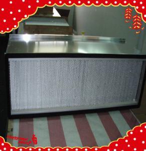 China 1220x610x220mm fiberglass filter media high temperature deep pleat air purifier wholesale