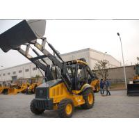 China Professional Tractor Loader Backhoe With 4 In 1 Bucket / Hydraulic Hammer wholesale