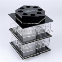 China Counter Top Beauty Salon Shop Fixture Lipstick Acrylic Display Stands Rotating wholesale