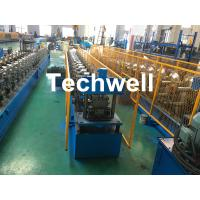 China Forming Material PPGI , Aluminum Gutter Roll Forming Machine With Forming Speed 0-15m/min wholesale