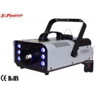 China Portable 900w Stage Fog Machine Party Smoke Machine With 6*3w 3 in 1 RGB LED  X-026 wholesale