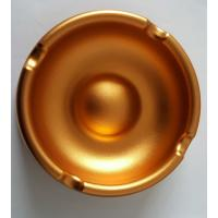 China Custom Golden Anodized CNC Machining Parts Aluminum Ashtray Commodity wholesale