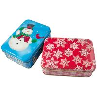 China Holiday Cookie Metal Tin Container , Food Storage Tinplate Boxes wholesale