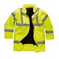 Hi Vis Yellow Safety Parka Jacket