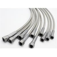 China 1/4 X 6' 304 SS Wire Braided PTFE Hose with 1/4 Female JIC on Both Ends on sale