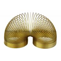 China Lovely Design Metal Slinky Spring Yellow Color Carbon Steel / Stainless Steel Material wholesale