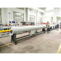 China Plastic HDPE PP Water Gas Pipe Making Machine With PLC Controlling wholesale