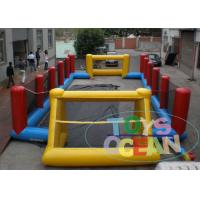 China Yellow Inflatable Football Pitch Soccer Field  / Fun Interactive Party Games wholesale