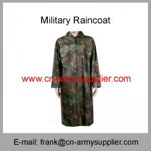 Army Woodland Camouflage Long Overcoat Style Military Raincoat