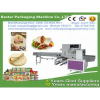 China Bestar automatic papadam packaging machine  flow pack wrapper in modified atmosphere ,papadam wrapping machine wholesale