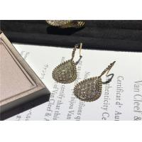China Glamorous 18K Gold Diamond Earrings For Company Annual Meeting / Party wholesale