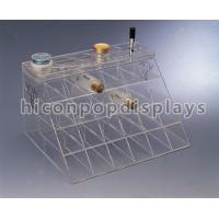 China Customized Counter Top Acrylic Cosmetic Organizers With Slot Pocket wholesale