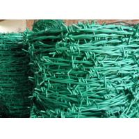China RAL Colors Barbed Wire Mesh Fencing For Boundary / Railway , Anti Corrosion wholesale