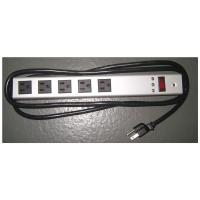 China Horizontal Surge Protector Power Strip 5 Outlet , Universal Electrical Power Bar wholesale