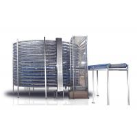 China Industrial Spiral Cooling Conveyor Belt Machine For Frozen French Bread on sale