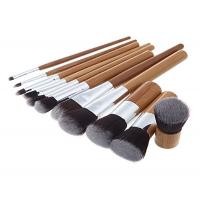 Custom Eco Bamboo Makeup Brushes / Woman High End Travel Makeup Brushes