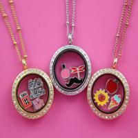 China 2014 Popular Crystal Stainless Steel Open Locket Wholesale wholesale