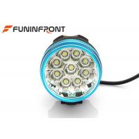 China 3 Light Gears 9T6 Rechargeable Front Bike Light , CREE LED Bicycle Headlight wholesale