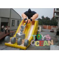China Customized Giant Colorful Inflatable Slides Monster Bulldozer Shaped For Fun wholesale