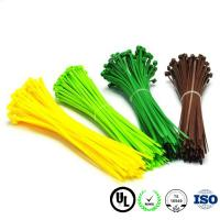 China 80 200 250 Mm Low Profile Nylon Cable Ties OEM Size Electrical Zip Ties Anti - Static on sale