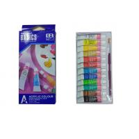 China Strong Adhesion Basics Colored Acrylic Paint Set , Artists Paint Pigments 12 X 6ml Tubes wholesale