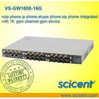 Buy cheap voip phone,ip phone,skype phone,sip phone integrated with 16  gsm channel gsm device from wholesalers