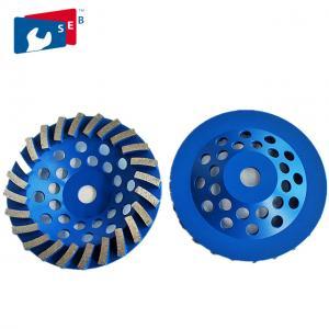 China Blue 4.5 Concrete Grinding Wheel , Diamond Grinding Wheels For Granite wholesale