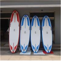 China Soft Top Touring Stand Up Paddle Board , Air Sup Board Double Wall PVC Fabric Material wholesale