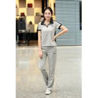 China Cotton/polyester jogging suit, sports wears for women wholesale