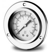 """Wholesale 1/4"""" NPT thread Stainless Steel Glycerine Filled Gauges with Flange , 40 to 180 °F from china suppliers"""