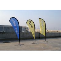 Quality Knitted Fabric Custom Teardrop Flag Banner Full Color Digital Printing for sale