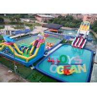 China Outdoor Commercial Inflatable Water Park Kids Moving Slide With CE Certificate wholesale