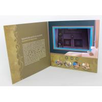 China Rechargeable LCD modules Video Brochure Card for opening Veremonies , 4 color printing wholesale