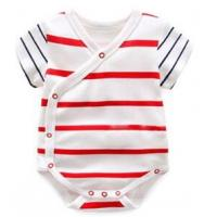 China 180 G 100% Cotton Summer Unisex Baby Wear With All Over Prints Placket wholesale