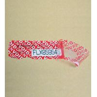 Buy cheap Customise Tamper Evident Security Tape from wholesalers