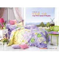 China King Size / Twin Size Four Piece Cotton Bedding Sets Reactive Printing wholesale