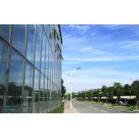 China Large Aluminium Double Glazed Curtain Walls With Blue Lowes Glass wholesale