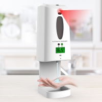 China Two-in-one temperature measuring and hands sanitizer dispenser with white color 1300ml large capacity wholesale