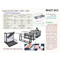 China Series of Air Bubble Film Making Machine  Customized  With bubble Specification ɸ30x10mm Model No. DY-1200 wholesale